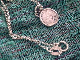 Delicate Hammered Sterling Silver Coil Necklace image 7