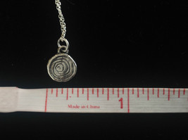 Delicate Hammered Sterling Silver Coil Necklace image 10