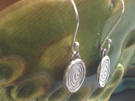 Delicate Hammered Sterling Silver Coil Earrings image 3