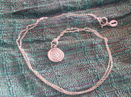 Delicate Hammered Sterling Silver Coil Necklace image 8