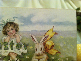 Decorative wooden box sign w vintage Easter Greetings picture basket stuffer image 5
