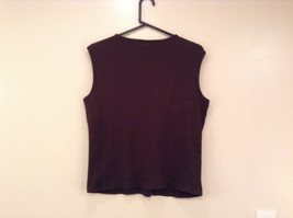Dark Brown V Neck Sleeveless 100 Percent Cotton Top Jill Collection Size XL image 2