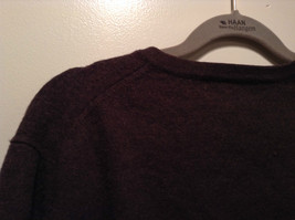 Dark Brown V Neck Long Sleeve Brooks Brothers Sweater Size Large image 5
