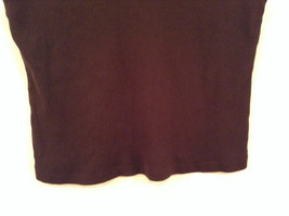 Dark Brown V Neck Sleeveless 100 Percent Cotton Top Jill Collection Size XL image 4