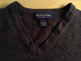 Dark Brown V Neck Long Sleeve Brooks Brothers Sweater Size Large image 6