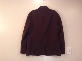 Dark Brown H and M Fully Lined Blazer Inside Pocket Two Front Pockets Size XL image 2