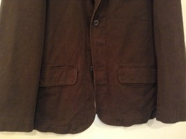 Dark Brown H and M Fully Lined Blazer Inside Pocket Two Front Pockets Size XL image 4