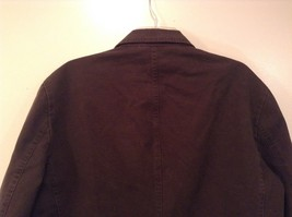 Dark Brown H and M Fully Lined Blazer Inside Pocket Two Front Pockets Size XL image 5