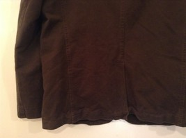 Dark Brown H and M Fully Lined Blazer Inside Pocket Two Front Pockets Size XL image 6