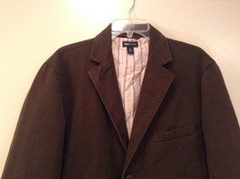 Dark Brown H and M Fully Lined Blazer Inside Pocket Two Front Pockets Size XL image 3