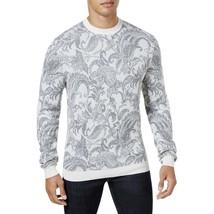 $80 Tasso Elba Men's Paisley Knit Sweater, Color: Ivory Combo ,Size: 2XL - $39.59