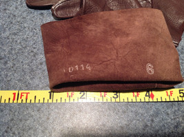 Dark Brown Leather Gloves Very Soft Inside Cheoreau Size 6 Vintage image 6