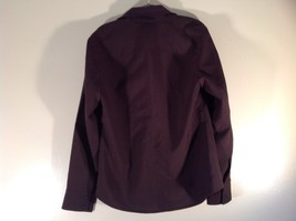 Dark Brown Size Large New York and Company Long Sleeve Button Up Blouse image 5