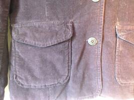 Dark Brown Timberland Corduroy Jacket 2 Front Pockets 3 Button Closure Size 8 image 2
