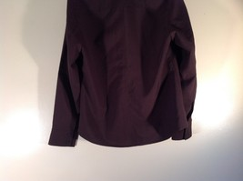 Dark Brown Size Large New York and Company Long Sleeve Button Up Blouse image 7