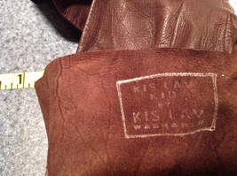 Dark Brown Leather Gloves Very Soft Inside Cheoreau Size 6 Vintage image 8