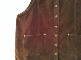 Dark Brown V Neck Sleeveless Dress 3X Eric Charles 100 Percent Cotton corduroy image 3