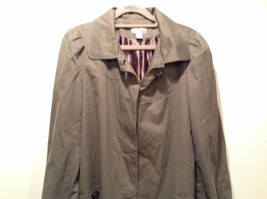 Dark Brown Gray H and M Size 10 Long Hidden Button Up Closure Jacket Pockets image 2