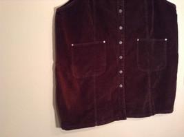 Dark Brown V Neck Sleeveless Dress 3X Eric Charles 100 Percent Cotton corduroy image 4