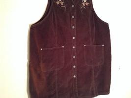 Dark Brown V Neck Sleeveless Dress 3X Eric Charles 100 Percent Cotton corduroy image 5