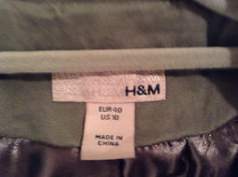 Dark Brown Gray H and M Size 10 Long Hidden Button Up Closure Jacket Pockets image 8