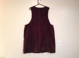 Dark Brown V Neck Sleeveless Dress 3X Eric Charles 100 Percent Cotton corduroy image 7