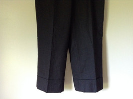 Dark Gray 100 Percent Wool Pants Inner Lining Cuffed Bottoms by David N Size 0 image 4