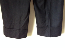 Dark Gray 100 Percent Wool Pants Inner Lining Cuffed Bottoms by David N Size 0 image 7