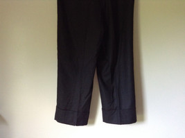 Dark Gray 100 Percent Wool Pants Inner Lining Cuffed Bottoms by David N Size 0 image 6
