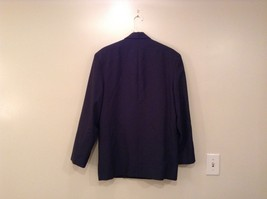 Dark Gray Jacket and Pant Suit COZZ Size Medium Two Button Closure Jacket image 3