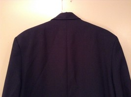 Dark Gray Jacket and Pant Suit COZZ Size Medium Two Button Closure Jacket image 6