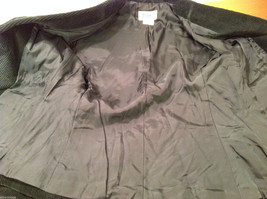 Dark Gray Fully Lined Ladies 100% Cotton Blazer Jacket by Slices, Size 9 image 7