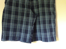 Dark Light Blue and Green Plaid Shorts by Bugle Boy Size 34 image 3