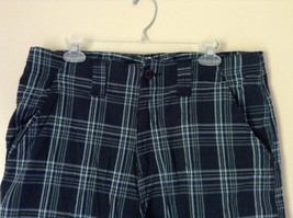 Dark Light Blue and Green Plaid Shorts by Bugle Boy Size 34 image 2