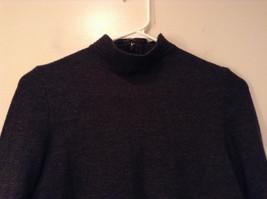 Dark Gray Carlisle Sport Size Small 100 Percent Lambs Wool Turtleneck Sweater image 3