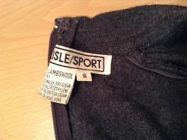 Dark Gray Carlisle Sport Size Small 100 Percent Lambs Wool Turtleneck Sweater image 8
