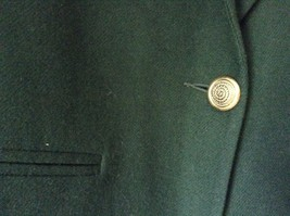 Dark Green Wool Suit Jacket Blazer by Sag Harbor Size 12 Shoulder Pads image 3