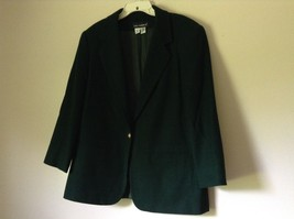 Dark Green Wool Suit Jacket Blazer by Sag Harbor Size 12 Shoulder Pads image 4