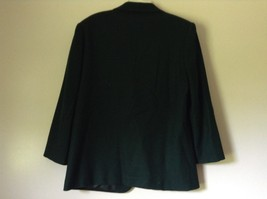 Dark Green Wool Suit Jacket Blazer by Sag Harbor Size 12 Shoulder Pads image 5