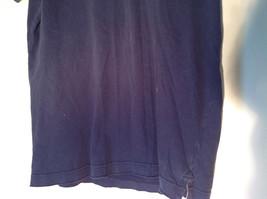 Dark Navy Blue Buttoned Collar Hollister Logo on Front Short Sleeve Shirt Size M image 3