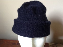 Dark Navy Blue Beanie Hat by H and M One Size Fits Most image 2