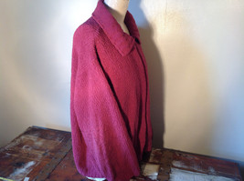 Dark Pink Long Sleeve Zip Up Dressbarn Sweater Very Soft and Comfortable image 5