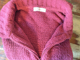 Dark Pink Long Sleeve Zip Up Dressbarn Sweater Very Soft and Comfortable image 9