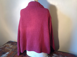 Dark Pink Long Sleeve Zip Up Dressbarn Sweater Very Soft and Comfortable image 6