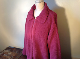 Dark Pink Long Sleeve Zip Up Dressbarn Sweater Very Soft and Comfortable image 8