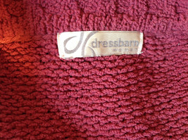 Dark Pink Long Sleeve Zip Up Dressbarn Sweater Very Soft and Comfortable image 10