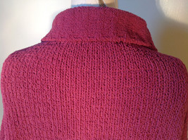 Dark Pink Long Sleeve Zip Up Dressbarn Sweater Very Soft and Comfortable image 7