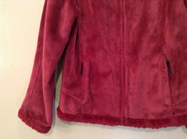 Dark Pink Size S Faux Fur Jacket Front Pockets Front Zipper Closure Green Tea image 4