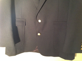 Dark Navy Blue Formal Suit Jacket by Bianchis Two Front Pockets Made in USA image 7