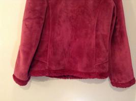 Dark Pink Size S Faux Fur Jacket Front Pockets Front Zipper Closure Green Tea image 7